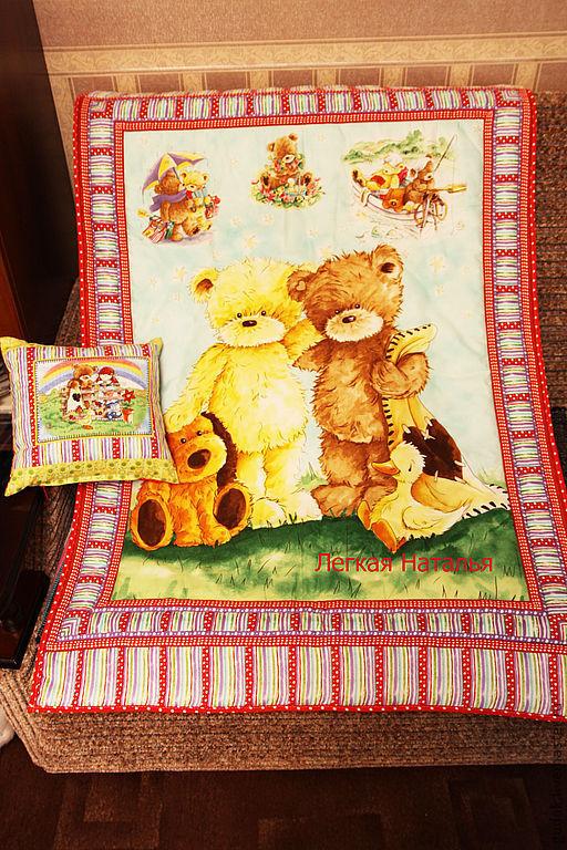 """Детская ручной работы. Ярмарка Мастеров - ручная работа. Купить Комплект в детскую кроватку """" Мои любимые мишки-2"""". Handmade."""