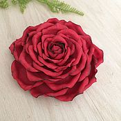 Ободки ручной работы. Ярмарка Мастеров - ручная работа Красная роза из фоамирана Ободок с розой Брошь с цветком. Handmade.