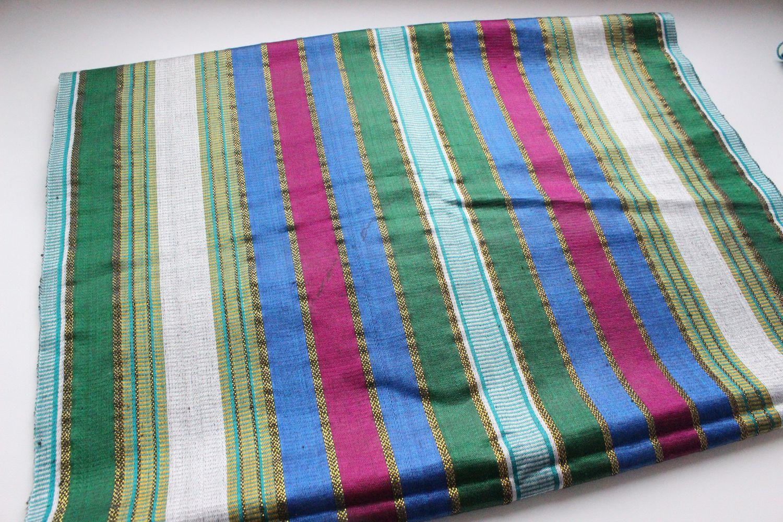 Uzbek vintage silk fabric Bahasa 46h130cm, Fabric, Odintsovo,  Фото №1