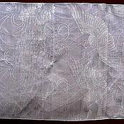 Материалы для творчества ручной работы. Ярмарка Мастеров - ручная работа Винтажный японский шелк для пояса оби (белый). Handmade.