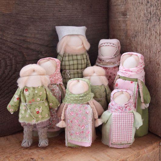 """Народные куклы ручной работы. Ярмарка Мастеров - ручная работа. Купить Народные Русские куколки """"Добрая семья"""". Handmade. Комбинированный"""