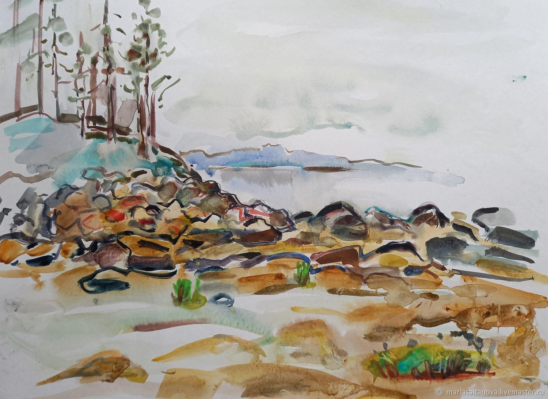 Картина Литораль Берег Белого моря, Картины, Москва,  Фото №1