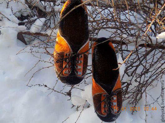 """Обувь ручной работы. Ярмарка Мастеров - ручная работа. Купить Тапочки """"Кроссовки"""". Handmade. Комбинированный, обувь для дома, натуральная замша"""