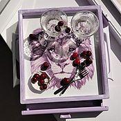 Для дома и интерьера handmade. Livemaster - original item Tray, drawer for kitchen Lavender lion. Handmade.