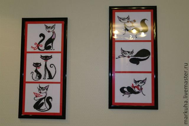 Вышивка гламурные кошки