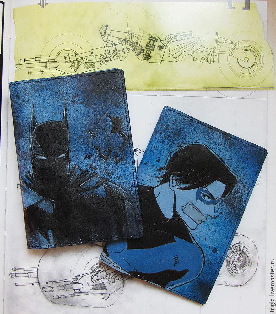 """Обложки на паспорт """"Бэтмен"""", """"Найтвинг"""" и """"Бэтмен против Супермена"""", Обложки, Москва, Фото №1"""