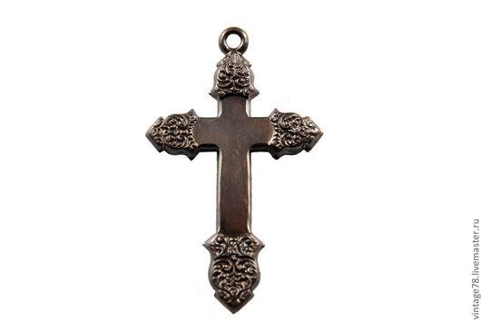 Для украшений ручной работы. Ярмарка Мастеров - ручная работа. Купить Винтажная фурнитура, латунный штамп крест P14. Handmade.