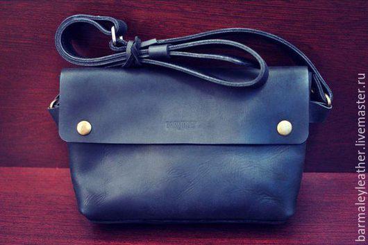 Мужские сумки ручной работы. Ярмарка Мастеров - ручная работа. Купить Кожаная сумка на пояс и на плечо Barmaley 3.1. Handmade.