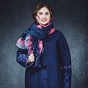 Одежда ручной работы. Ярмарка Мастеров - ручная работа Пальто кокон из шерсти Темная ночь. Handmade.