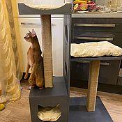 Домик для питомца ручной работы. Ярмарка Мастеров - ручная работа Домик - когтеточка для кошки. Handmade.
