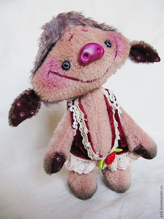 Мишки Тедди ручной работы. Ярмарка Мастеров - ручная работа. Купить Бопси. Handmade. Свинка, хрюшка, Антикварный плюш, фимо