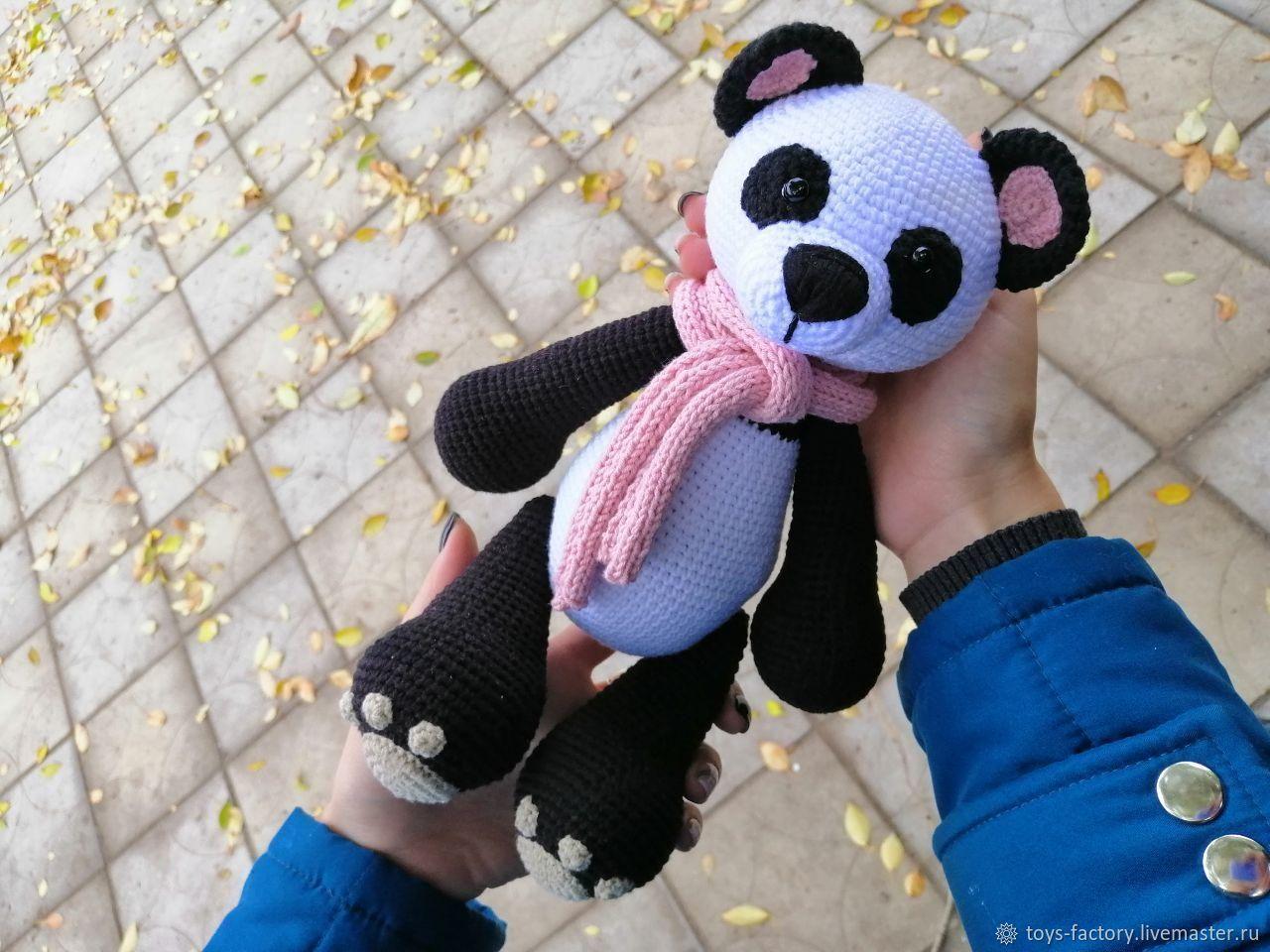 Пандочка, вязаная игрушка, оригинальный подарок, Мягкие игрушки, Одесса,  Фото №1