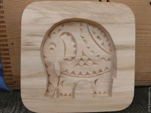 """Кухня ручной работы. Ярмарка Мастеров - ручная работа. Купить Пряничная доска """"Слон"""". Handmade. Белый, форма для пряников, слоник"""