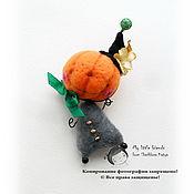 Куклы и игрушки ручной работы. Ярмарка Мастеров - ручная работа Гыыыы... Тыква. Миниатюрная игрушка. БРОШЬ.. Handmade.