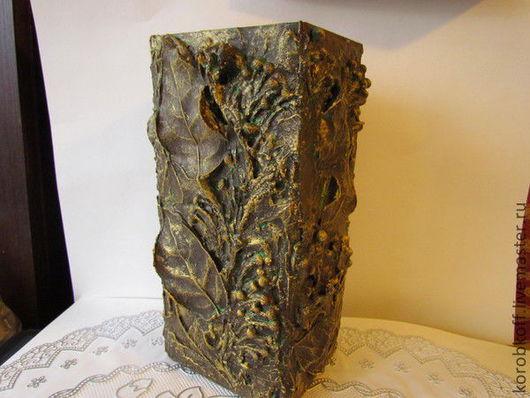 """Вазы ручной работы. Ярмарка Мастеров - ручная работа. Купить ваза """"Осень"""". Handmade. Коричневый, скульптура, акриловые краски и лак"""