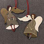 Подарки к праздникам ручной работы. Ярмарка Мастеров - ручная работа Ангелы в красных носочках. Handmade.