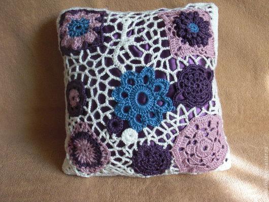 Текстиль, ковры ручной работы. Ярмарка Мастеров - ручная работа. Купить Подушка с цветами. Handmade. Белый, интерьерное украшение