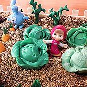 Кукольная еда ручной работы. Ярмарка Мастеров - ручная работа Кукольная еда: Капуста из полимерной глины. Handmade.