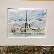 Картины и панно handmade. Livemaster - original item Peter and Paul fortress painting watercolor Piter SPb, Saint Petersburg. Handmade.