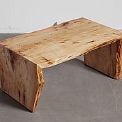 Столы ручной работы. Ярмарка Мастеров - ручная работа Журнальный стол из слэба ценных пород дерева.. Handmade.