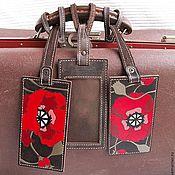 Аксессуары handmade. Livemaster - original item MAKI tag on the suitcase. Handmade.