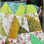 Для дома и интерьера ручной работы. Ярмарка Мастеров - ручная работа Лоскутное покрывало в зеленых тонах. Handmade.
