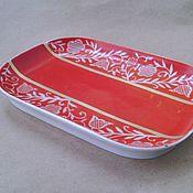 Винтаж ручной работы. Ярмарка Мастеров - ручная работа Винтажная фарфоровая тарелка.. Handmade.