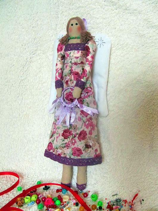 Куклы Тильды ручной работы. Ярмарка Мастеров - ручная работа. Купить Винтажный ангел. Handmade. Тильда, ангел тильда, лён