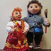 Куклы и игрушки ручной работы. Ярмарка Мастеров - ручная работа кукла из капрона  Домовой и домовушка  Груша и Гриша. Handmade.