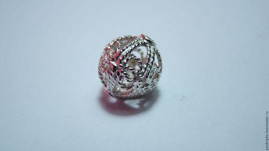 Для украшений ручной работы. Ярмарка Мастеров - ручная работа. Купить шарик серебро 925 (не Китай, не Индия!!) А050. Handmade.