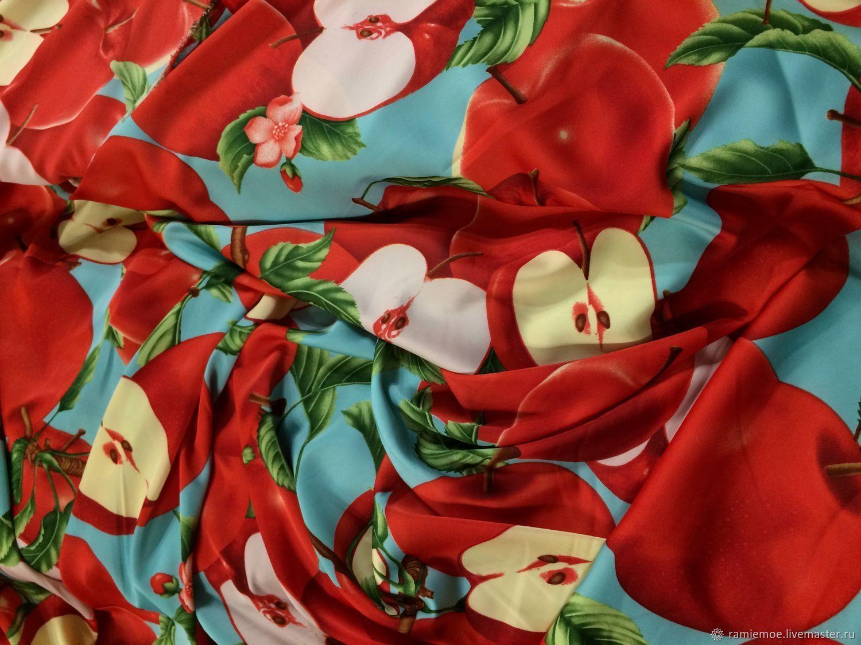 Dolce & Gabbana Шёлк-стрейч шикарный Яблочки красные – купить в интернет-магазине на Ярмарке Мастеров с доставкой