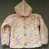 Работы для детей, ручной работы. Ярмарка Мастеров - ручная работа Детский жакет-куртка с капюшоном. Handmade.
