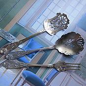 Антиквариат. Набор для десерта. Франция, Конец 19-начало 20 века