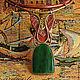 Комплекты украшений ручной работы. Комплект - колье и серьги из кожи с нефритом. Ardiente. Интернет-магазин Ярмарка Мастеров. Кожа натуральная