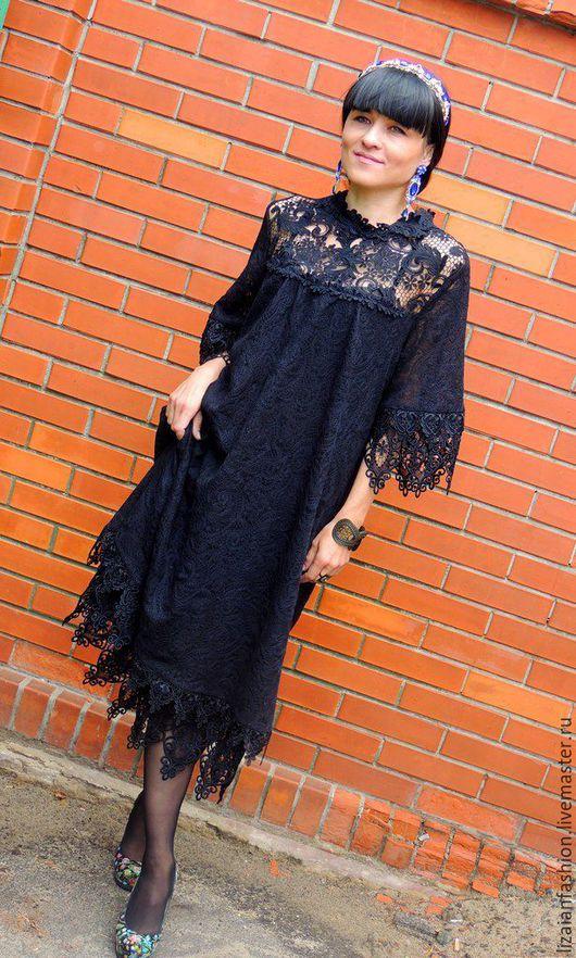 платье миди, черное платье, маленькое черное платье, платье из гипюра, платье с кружевом, платье нарядное, платье повседневное, платье коктейльное, платье вечернее, вечернее платье, нарядное платье