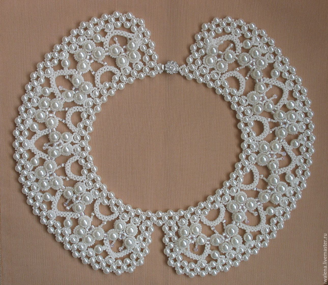 Collar with pearl butterflies, Collars, St. Petersburg, Фото №1