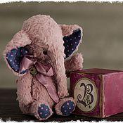"""Куклы и игрушки ручной работы. Ярмарка Мастеров - ручная работа Слоник """"Ангел"""" карманный размер, 16 см.. Handmade."""