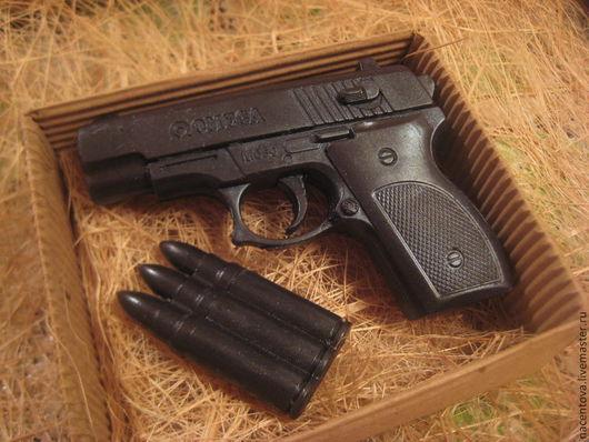 """Мыло ручной работы. Ярмарка Мастеров - ручная работа. Купить Набор мыла """"Черный пистолет"""". Handmade. Черный, мыло в подарок"""