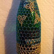 Подарки к праздникам ручной работы. Ярмарка Мастеров - ручная работа Украшение из бисера для бутылки шампанского. Handmade.