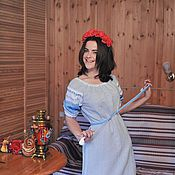 Русский стиль ручной работы. Ярмарка Мастеров - ручная работа Женское платье. Handmade.