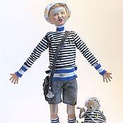 Куклы и игрушки ручной работы. Ярмарка Мастеров - ручная работа Авторская кукла. Рыбаки. Про рыбу с большим глазом.. Handmade.