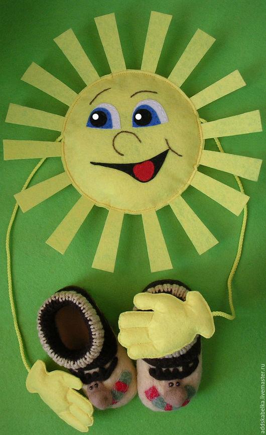 Развивающие игрушки ручной работы. Ярмарка Мастеров - ручная работа. Купить мягкая игрушка Солнышко. Handmade. Желтый, желтый цвет