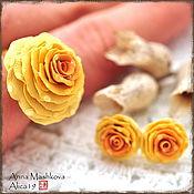 """Украшения ручной работы. Ярмарка Мастеров - ручная работа Серьги-гвоздики и кольцо """"Волшебная роза"""". Handmade."""