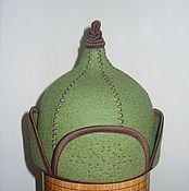 """Для дома и интерьера ручной работы. Ярмарка Мастеров - ручная работа Шапка для бани и сауны """"монгольская шапка - малгай """". Handmade."""