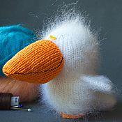 Куклы и игрушки ручной работы. Ярмарка Мастеров - ручная работа Пеликанчик (вязаная игрушка пеликан). Handmade.