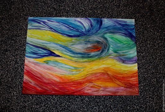 Абстракция ручной работы. Ярмарка Мастеров - ручная работа. Купить материя мира (акрил). Handmade. Комбинированный, разноцветный, уникальная работа