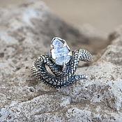 Украшения handmade. Livemaster - original item Silver ring snake