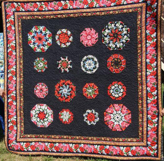 """Текстиль, ковры ручной работы. Ярмарка Мастеров - ручная работа. Купить Одеяло """"Ярмарка"""". Handmade. Печворк, маки"""