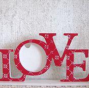 """Сувениры и подарки ручной работы. Ярмарка Мастеров - ручная работа Фоторамка """"LOVE"""" интерьерное слово """"Любовь"""" для фото. Handmade."""