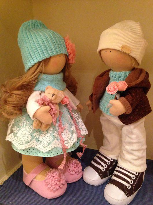 """Коллекционные куклы ручной работы. Ярмарка Мастеров - ручная работа. Купить Интерьерные куклы """"влюблённая парочка"""". Handmade. Интерьерная кукла"""